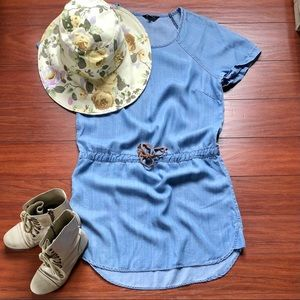 Denim coloured dress